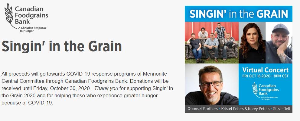 Singin' in the Grain 2020